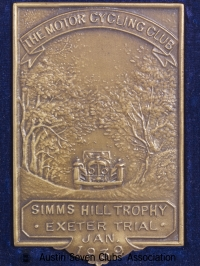 TR0041 : H.L. Hadley, Exeter, MCC - Simms Hill trophy - Exeter Trial - 1939