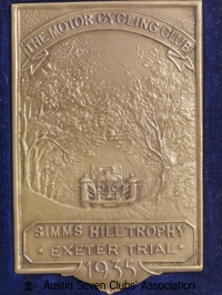 TR0045 : H.L. Hadley - Simms Hill trophy - Exeter Trial - 1935