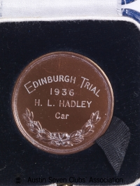 TR0046 : H.L. Hadley, Edinburgh Trial, MCC - Edinburgh Trial - back - 1936