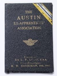 TR0058 : - The Austin Ex-Apprentices Association - membership book - Bert Hadley - Cover