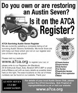 Register Quarter Page Advert