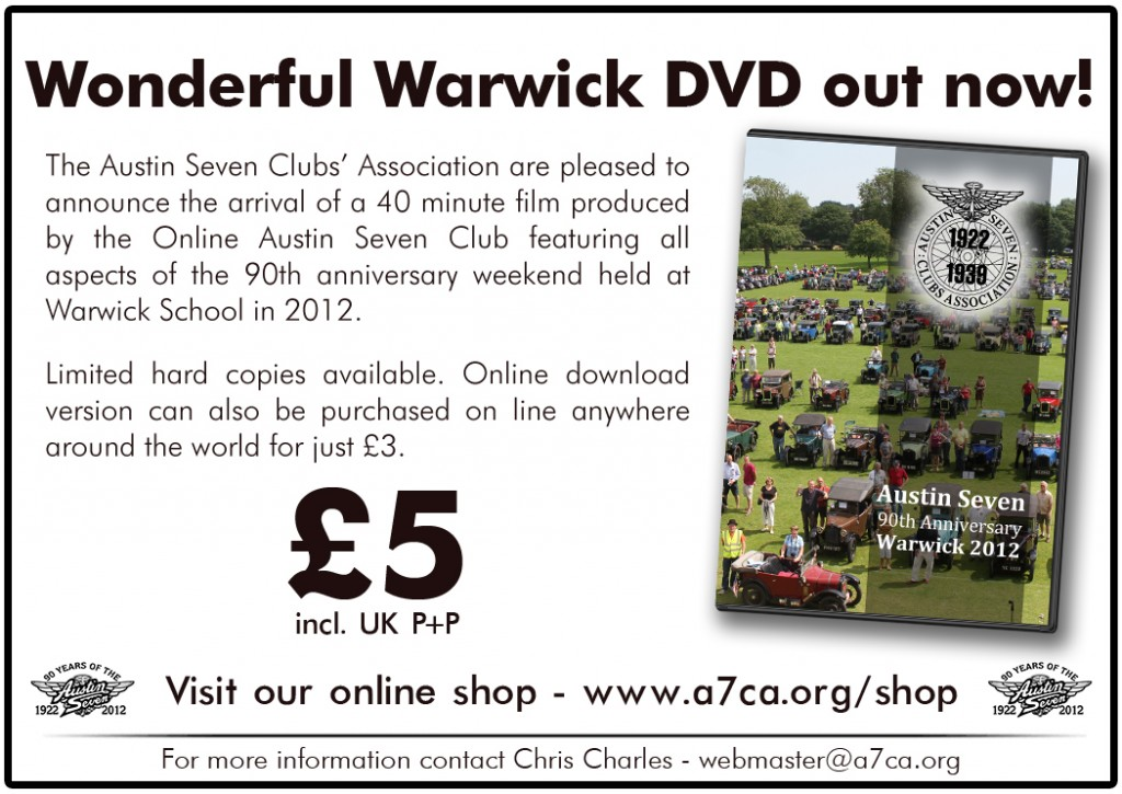 DVD Advert Wonderful Warwick